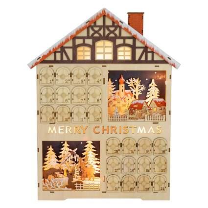 light up advent calendar house