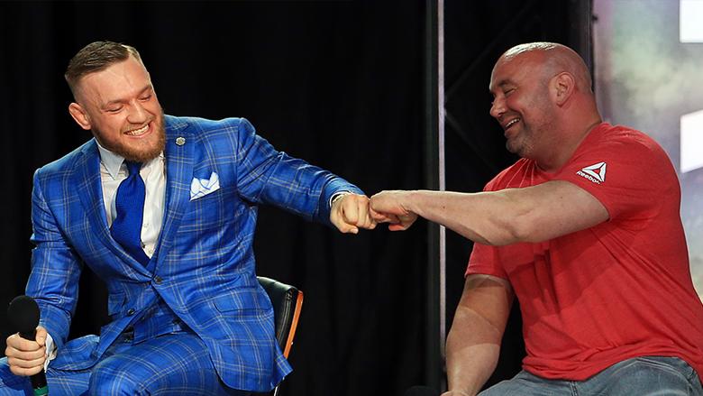 UFC Star Conor McGregor, UFC President Dana White