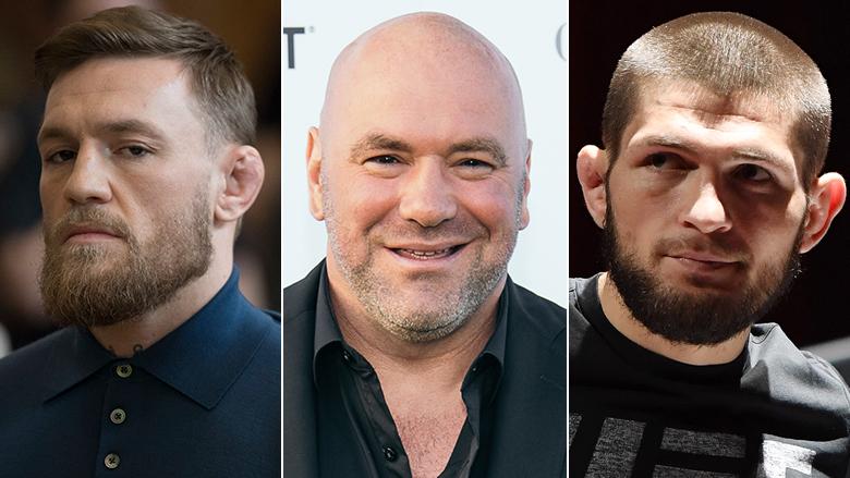Conor McGregor, Dana White, Khabib Nurmagomedov