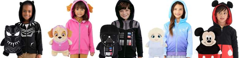 Cubcoats Deal - Black Panther, Skye, Darth Vader, Elsa, Mickey