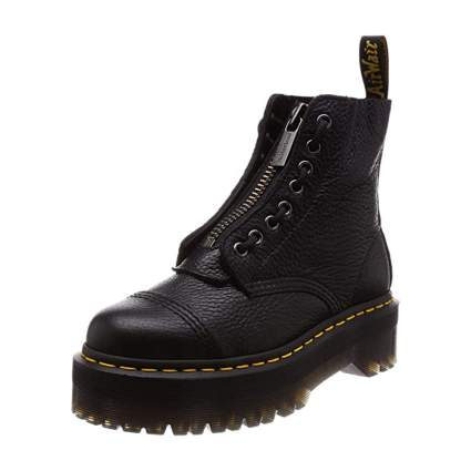 Dr Martens Chunky Boots with Zipper