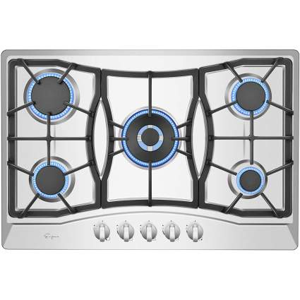 """Empava 30"""" Gas Cooktop in Stainless Steel with 5 Burners"""