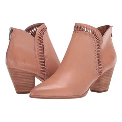 Frye Block Heel Ankle Booties