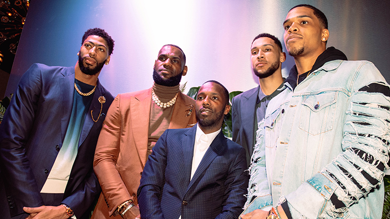 Anthony Davis, LeBron James, Rich Paul, Ben Simmons and Miles Bridges