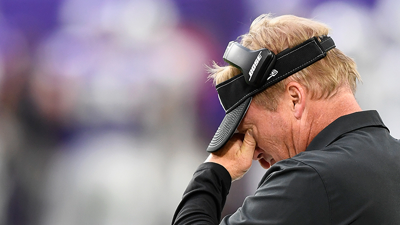 'Everything Is on the Table': Jon Gruden Sounds off on Raiders Defense