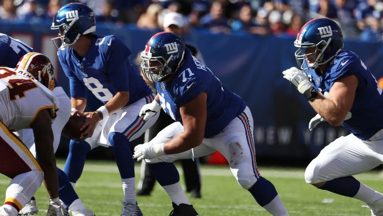 Giants offensive line slammed by experts