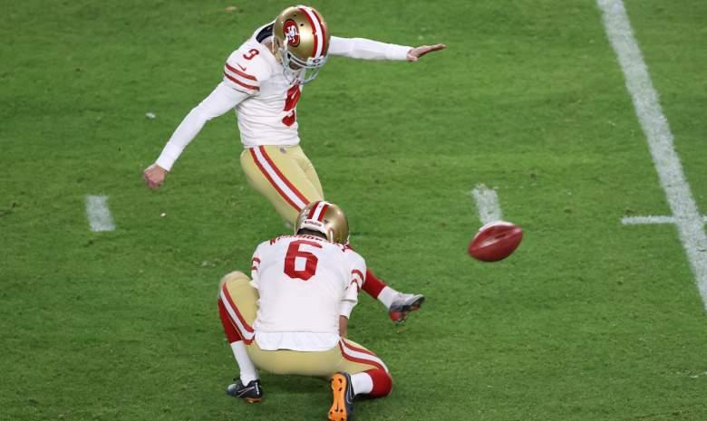 Chicago Bears 49ers kicker Robbie Gould