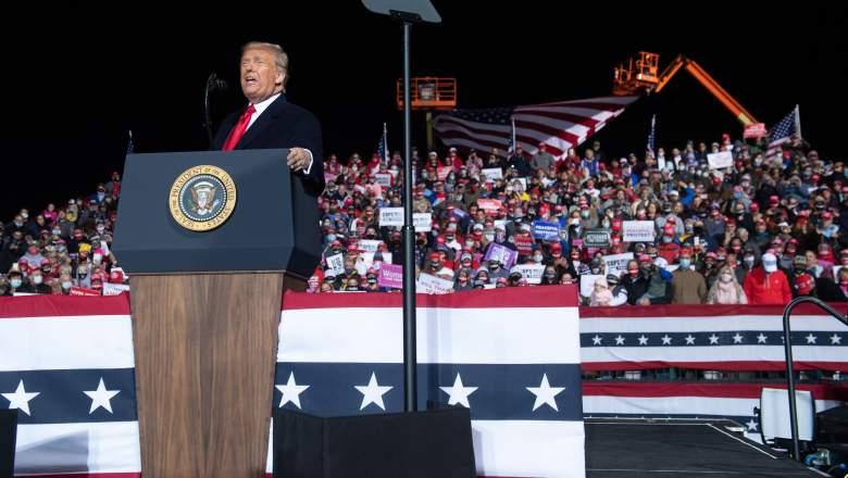 How long was Trump's Johnstown speech?