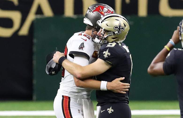 Tom Brady postgame handshake