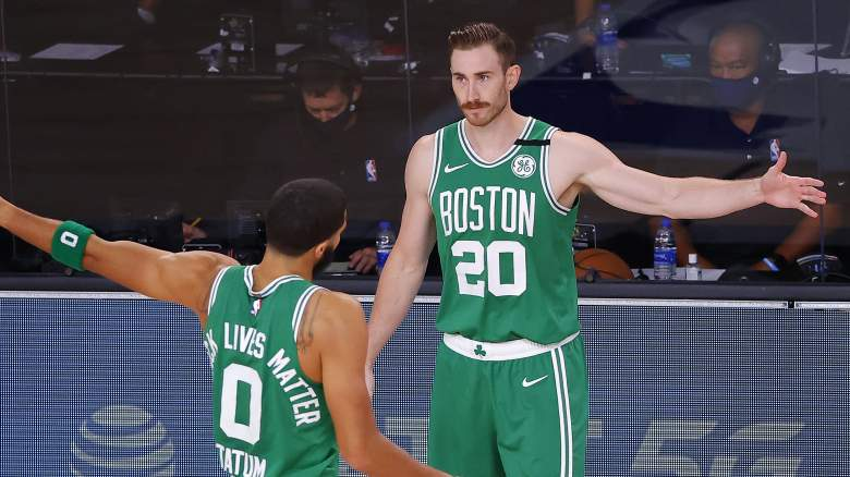 Gordon Hayward, right, Boston Celtics