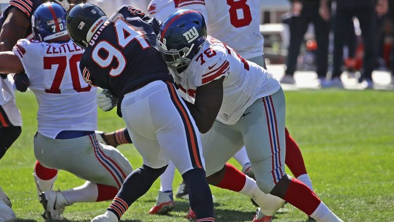 New York Giants bench OT Andrew Thomas