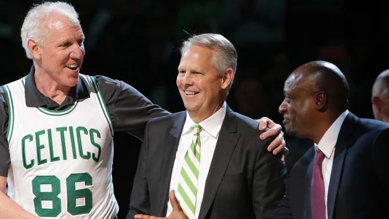 Celtics president Danny AInge, center, will have draft decisions to make.