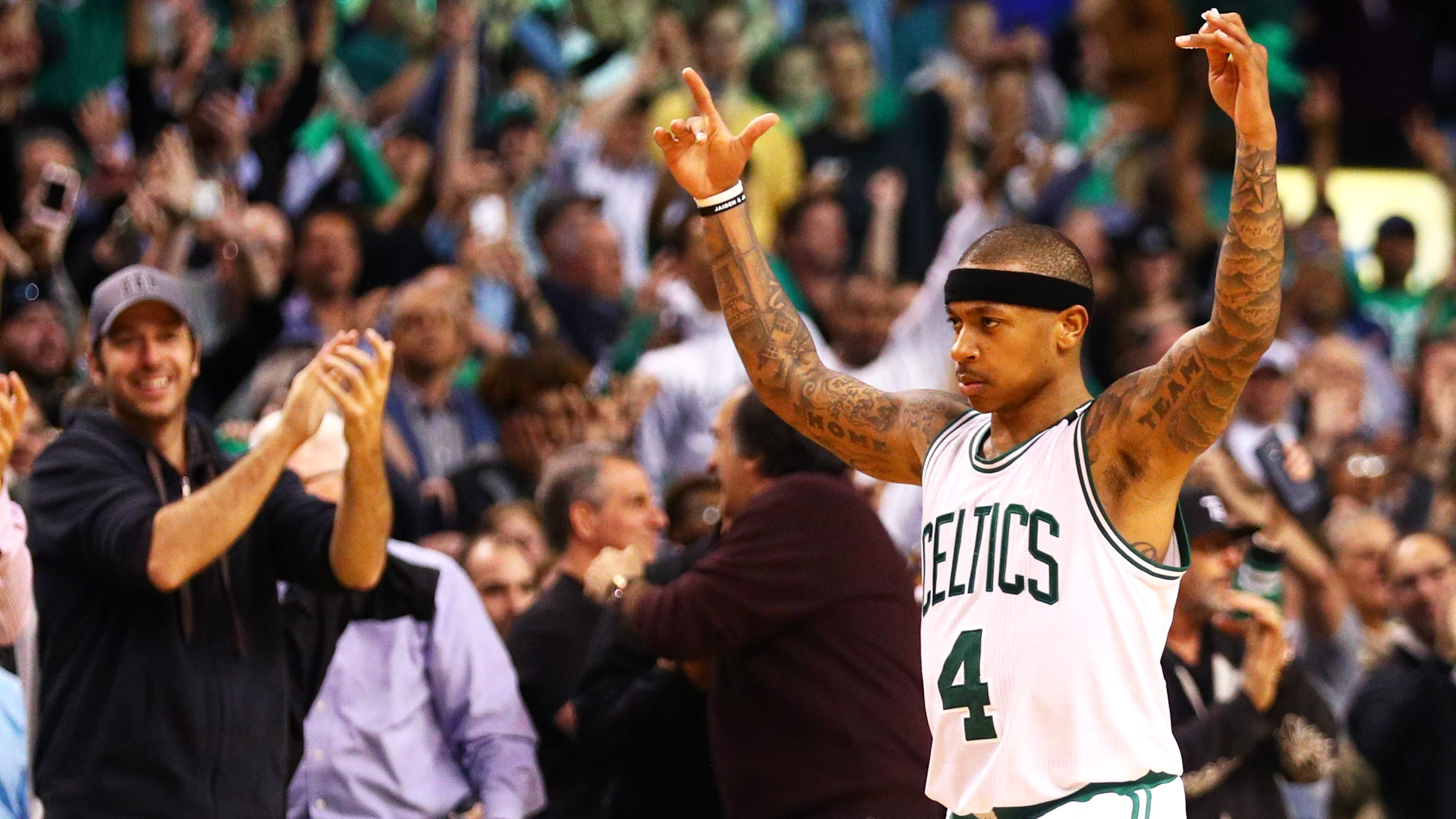Isaiah Thomas with the Celtics in 2017