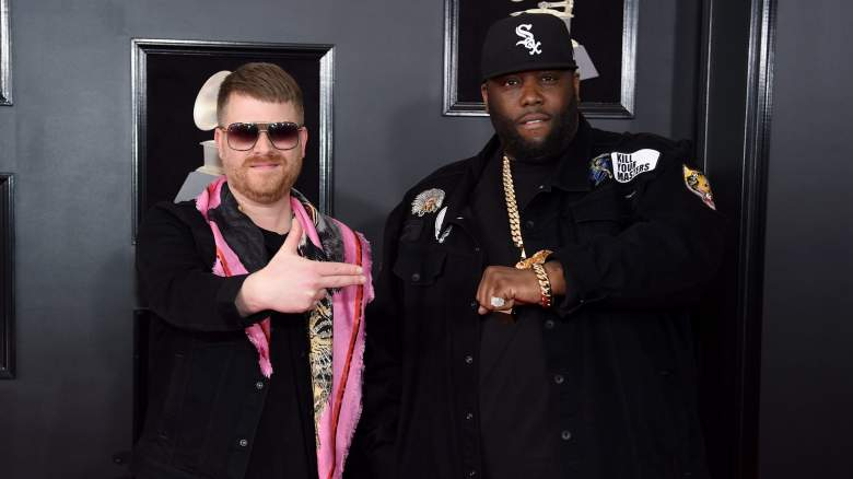 Recording artists El-P (L) and Killer Mike of Run The Jewels attend the 60th Annual GRAMMY Awards at Madison Square Garden on January 28, 2018 in New York City.