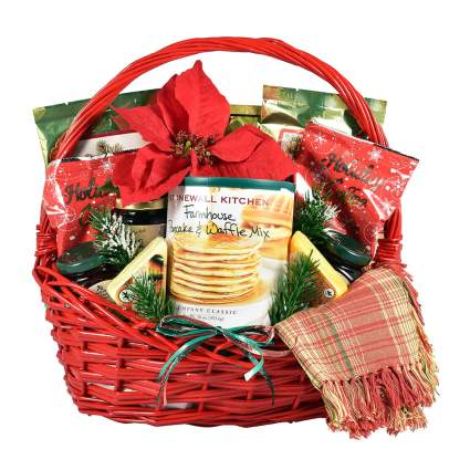 Holiday gift food basket