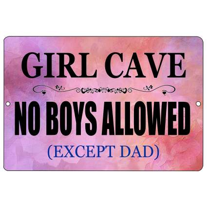 Girl Cave Wall Sign