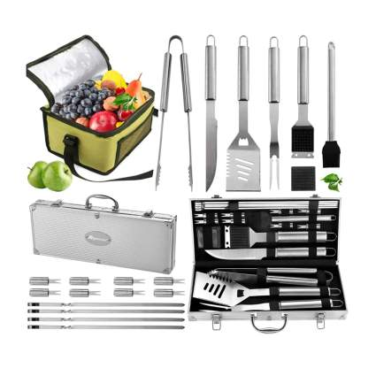 grilling set with cooler bag