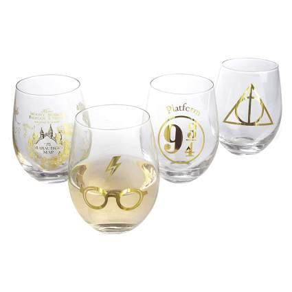 Harry Potter Stemless Wine Glass Set