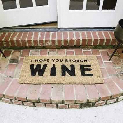 Hope You Brought Wine Doormat