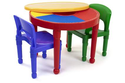 Humble Crew 2-in-1 Plastic Activity Table and 2 Chairs Set
