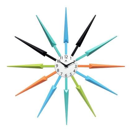 Colorful retro sunburst clock