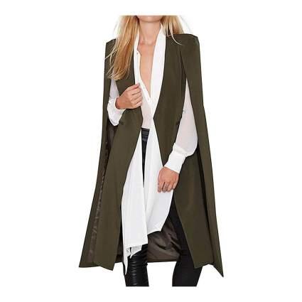 Irisie cape coat