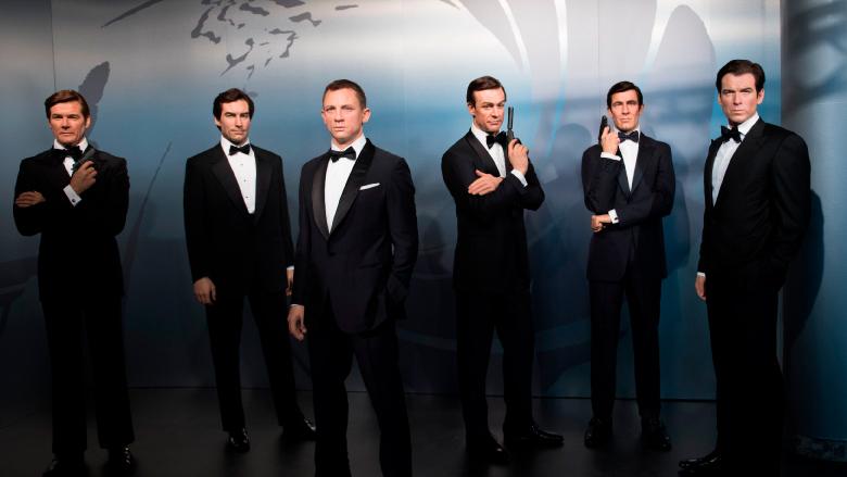 James Bond wax figures