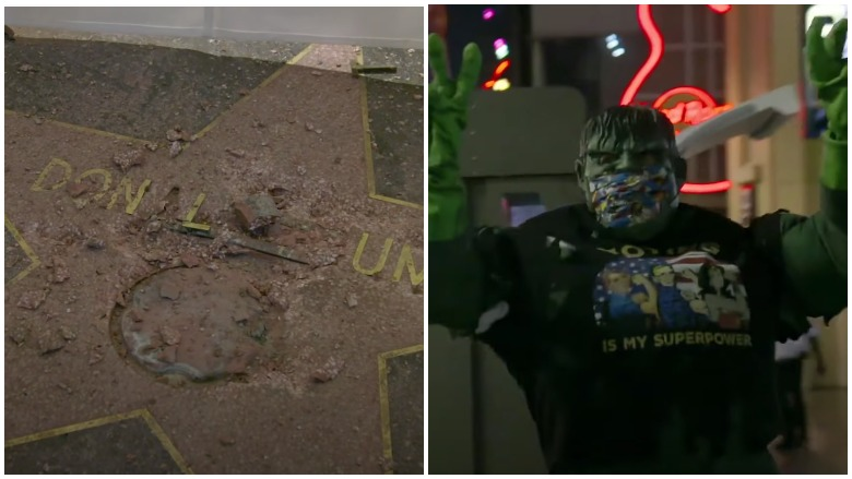 Hulk damages Trump's Hollywood star