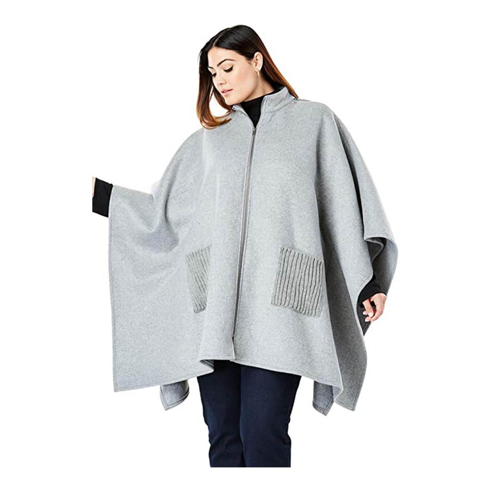 LEXUPE Women Autumn Winter Warm Comfortable Coat Casual Fashion Jacket Trench Coat Open Front Cardigan Jacket Coat Cape Cloak Poncho Plus