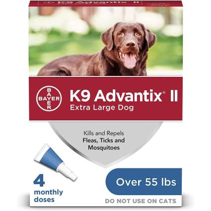 K9 Advantix II Flea, Tick and Mosquito Prevention for X-Large Dogs