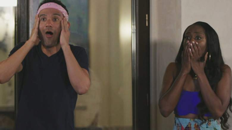 Kevin Campbell and Da'Vonne Rogers in the Big Brother 22 jury house