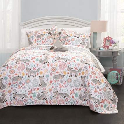 Cute fox Lush Decor bedding set