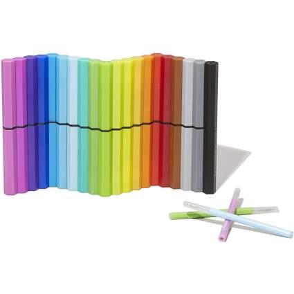 Rainbow colored magnetic gel pens