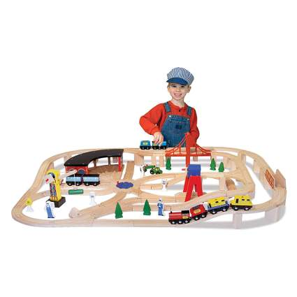 Melissa & Doug Wooden Train set