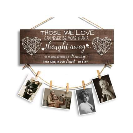 memory photo wall hanging