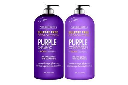 purple shampoo and conditioner
