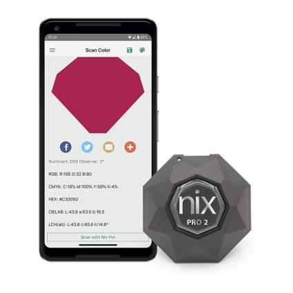 Nix color sensor and smartphone app