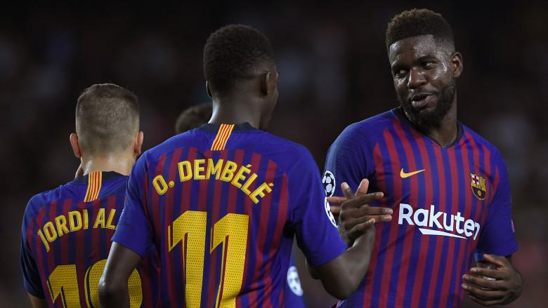 Ousmane Dembele and Samuel Umtiti