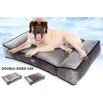 Pecute Warm Plush & Cool Silk Double-Sided Pet Bed