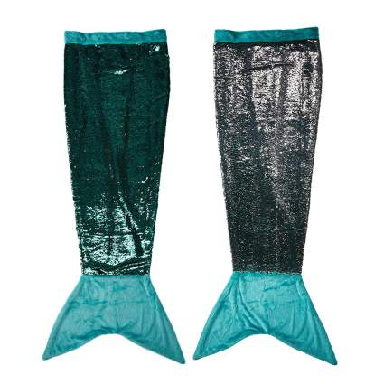 Flip sequins mermaid tail blanket