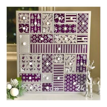 Purple Wooden Advent Calendar