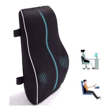 Black lumbar support pillow