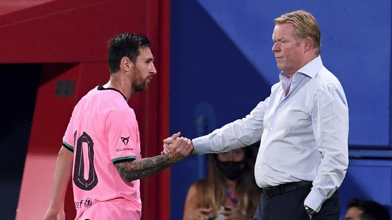 Ronald Koeman and Lionel Messi