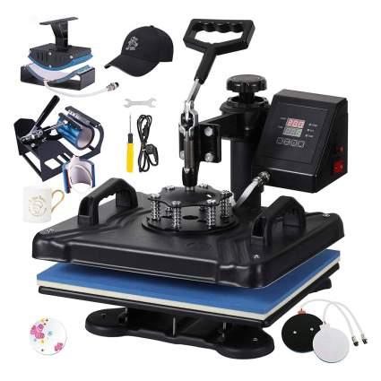 Blue and black t-shirt press kit