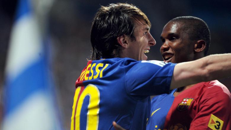 Samuel Eto'o and Lionel Messi
