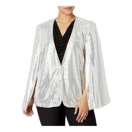 Tahari ASL sparkle cape jacket