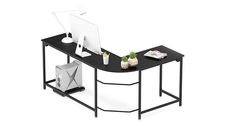 Teraves Modern L-Shaped Corner Computer Desk