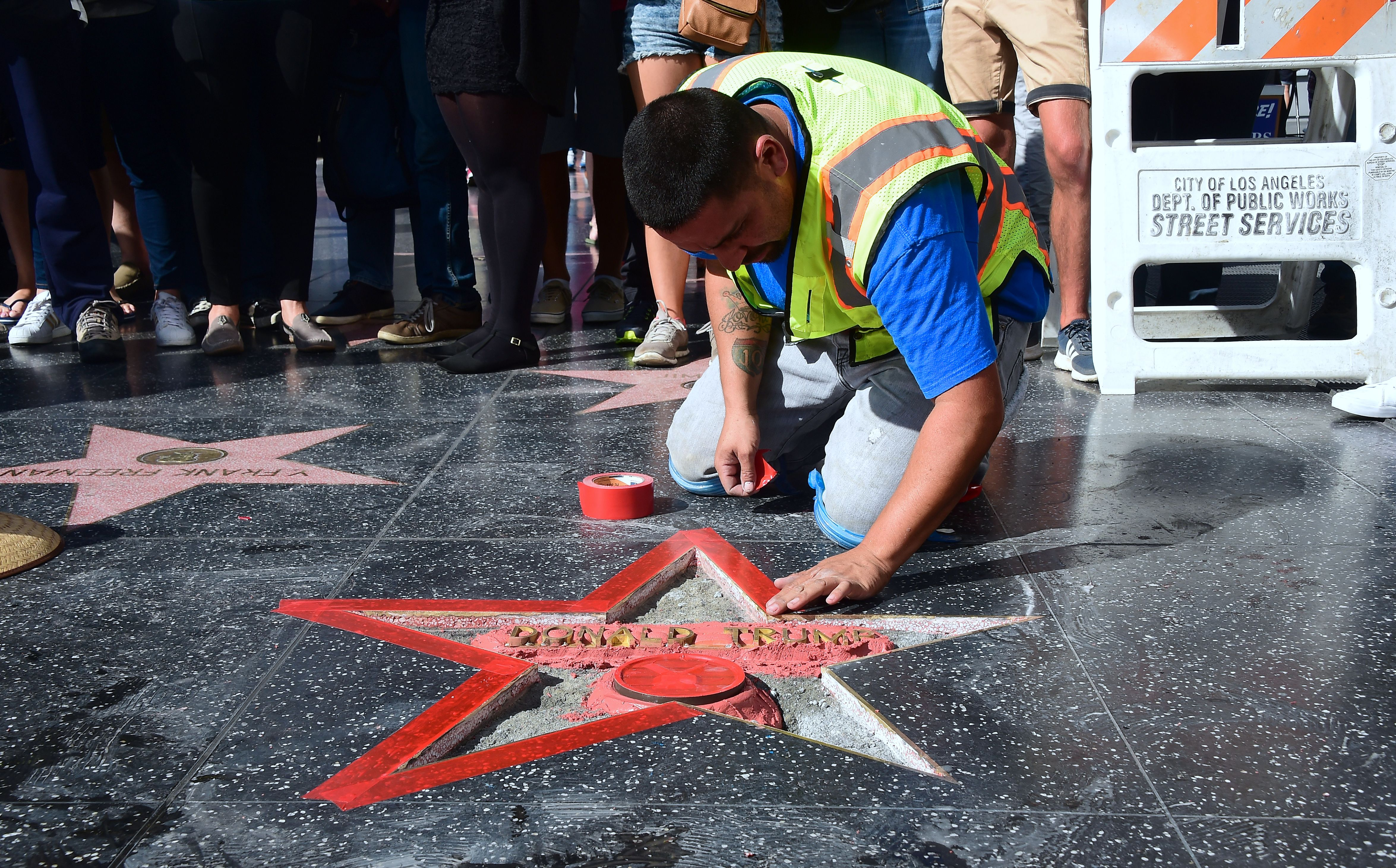 James Otis damaged Trump's star