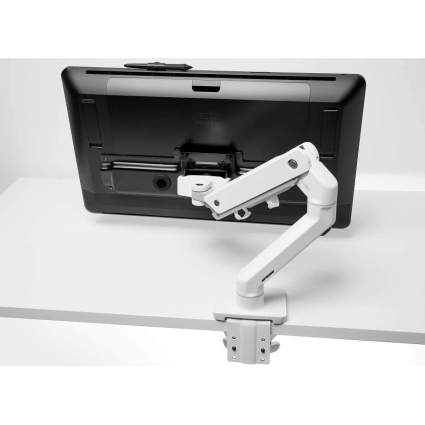 White clamp tablet mount