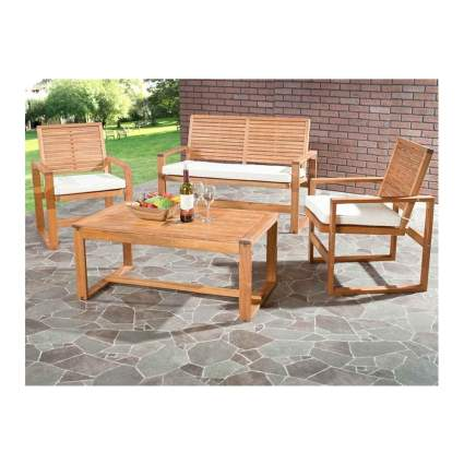 acacia wood patio set